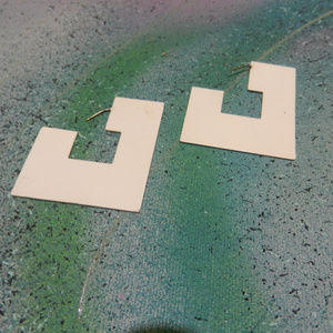 Contempo Casuals Vtg abstract geometric earrings